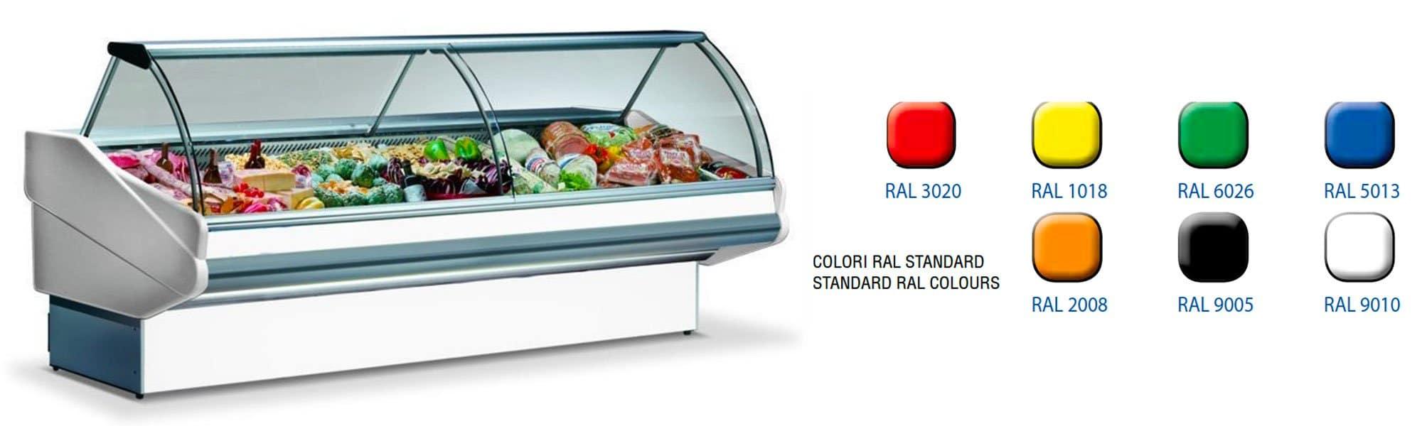 Banco vetrina refrigerata per pasta fresca
