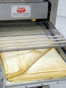 Sfogliatrice per lasagna e taglierina per pasta fresca