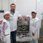 Il nostro tecnico con il personale del pastificio