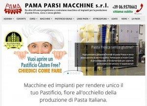 schermata sito macchine per pasta fresca professionali