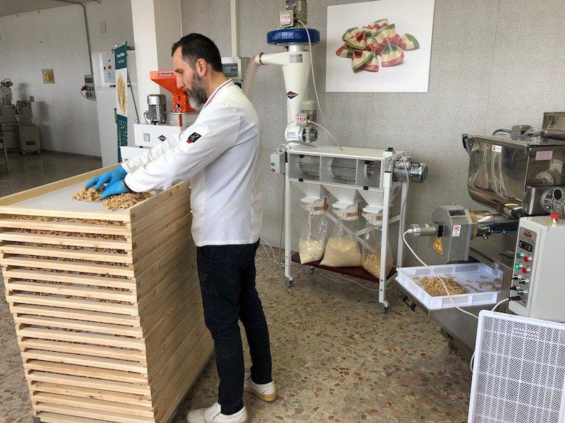 Produzione pasta secca nelle aziende agricole