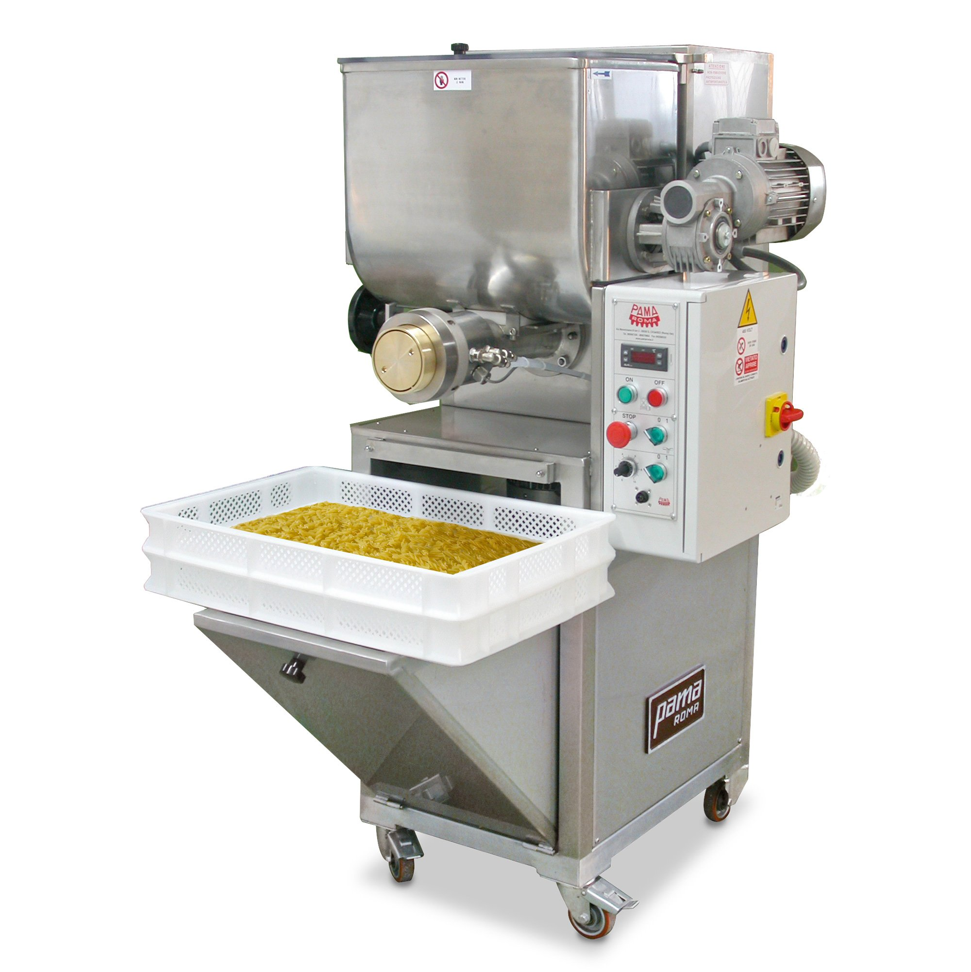 Macchina impastatrice per pasta fresca da 30 kg/h